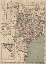Texas and Southwest Map By J. David Williams