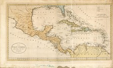Southeast and Caribbean Map By G. Robinson  &  Charles Dilly