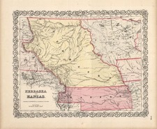 Plains, Southwest and Rocky Mountains Map By Joseph Hutchins Colton