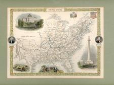 United States Map By John Tallis