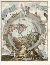 World, Northern Hemisphere, Polar Maps, Curiosities and Celestial Maps Map By Heinrich Scherer