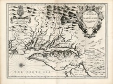Mid-Atlantic and Southeast Map By John Speed