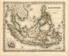 Asia, Southeast Asia and Philippines Map By Joseph Hutchins Colton