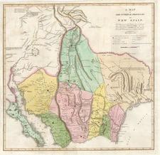 Texas, Southwest, Rocky Mountains and Baja California Map By Zebulon Montgomery Pike