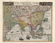 Asia, Asia, China, Southeast Asia, Australia & Oceania and Oceania Map By Gerard de Jode