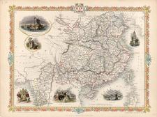 Asia, China and Southeast Asia Map By John Tallis