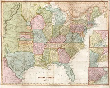 United States, Texas and Plains Map By Harper & Brothers