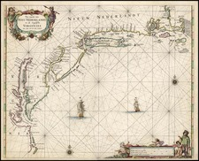 United States, New England, Mid-Atlantic and South Map By Pieter Goos