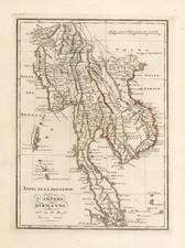 Asia, India and Southeast Asia Map By A.B. Borghi
