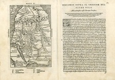 Asia, Middle East, Africa, Africa and North Africa Map By Giovanni Battista Ramusio