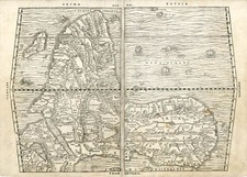 Africa and Africa Map By Giovanni Battista Ramusio
