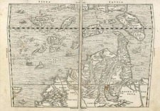 Asia, China, Japan, Southeast Asia and Philippines Map By Giovanni Battista Ramusio