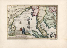 Asia, China, India and Southeast Asia Map By Pieter van der Aa