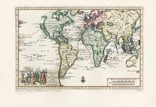 World, World, South America and America Map By Pieter van der Aa