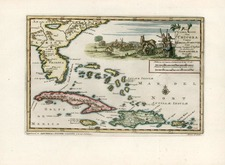 Southeast and Caribbean Map By Pieter van der Aa