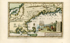 New England Map By Pieter van der Aa