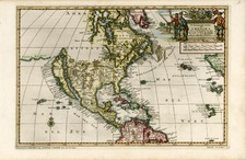 North America Map By Pieter van der Aa