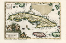 Caribbean Map By Pieter van der Aa
