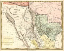 Texas, Southwest, Rocky Mountains and California Map By SDUK