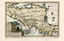 Central America Map By Pieter van der Aa
