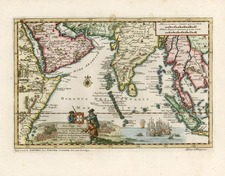 Asia, India, Southeast Asia, Africa and East Africa Map By Pieter van der Aa