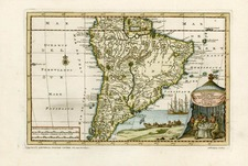 South America Map By Pieter van der Aa