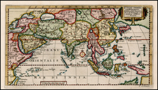 China, India, Southeast Asia and Central Asia & Caucasus Map By Pieter van der Aa
