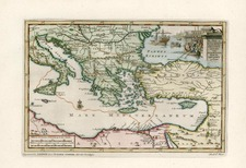 Europe, Greece, Turkey, Mediterranean, Asia and Turkey & Asia Minor Map By Pieter van der Aa