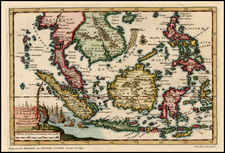 Asia, Southeast Asia and Philippines Map By Pieter van der Aa