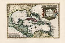 Southeast, Caribbean and Central America Map By Pieter van der Aa