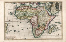 Africa and Africa Map By Pieter van der Aa
