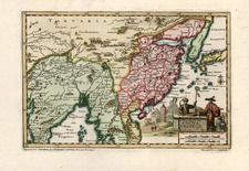 Asia, China and Central Asia & Caucasus Map By Pieter van der Aa