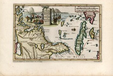 Mid-Atlantic, Southeast and Caribbean Map By Pieter van der Aa