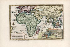 Asia, Asia, India, Southeast Asia, Africa and Africa Map By Pieter van der Aa