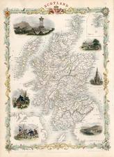Europe and British Isles Map By John Tallis