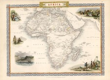 Africa and Africa Map By John Tallis