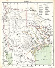 Texas and Southwest Map By Carl Flemming