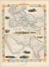 Europe, Europe, Asia, India, Central Asia & Caucasus and Middle East Map By John Tallis