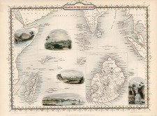 Asia, India, Southeast Asia and Other Islands Map By John Tallis