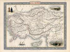 Europe, Turkey, Mediterranean, Balearic Islands, Asia and Turkey & Asia Minor Map By John Tallis