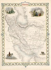Asia, Central Asia & Caucasus and Middle East Map By John Tallis