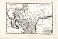Texas, Southwest, Mexico and Baja California Map By Rigobert Bonne