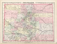 Southwest and Rocky Mountains Map By William Bradley