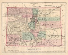 Southwest and Rocky Mountains Map By O.W. Gray