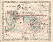 Southwest and Rocky Mountains Map By G.W.  & C.B. Colton