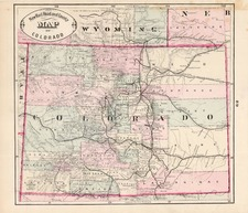 Rocky Mountains Map By HS Stebbins