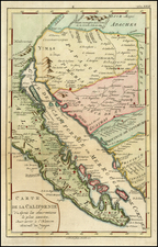 Southwest, Baja California and California Map By A. Krevelt