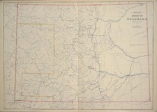 Southwest and Rocky Mountains Map By F.V. Hayden