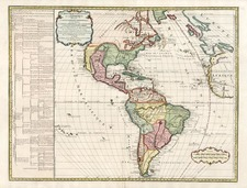 South America and America Map By Didier Robert de Vaugondy