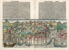Europe, Turkey, Asia and Turkey & Asia Minor Map By Hartmann Schedel